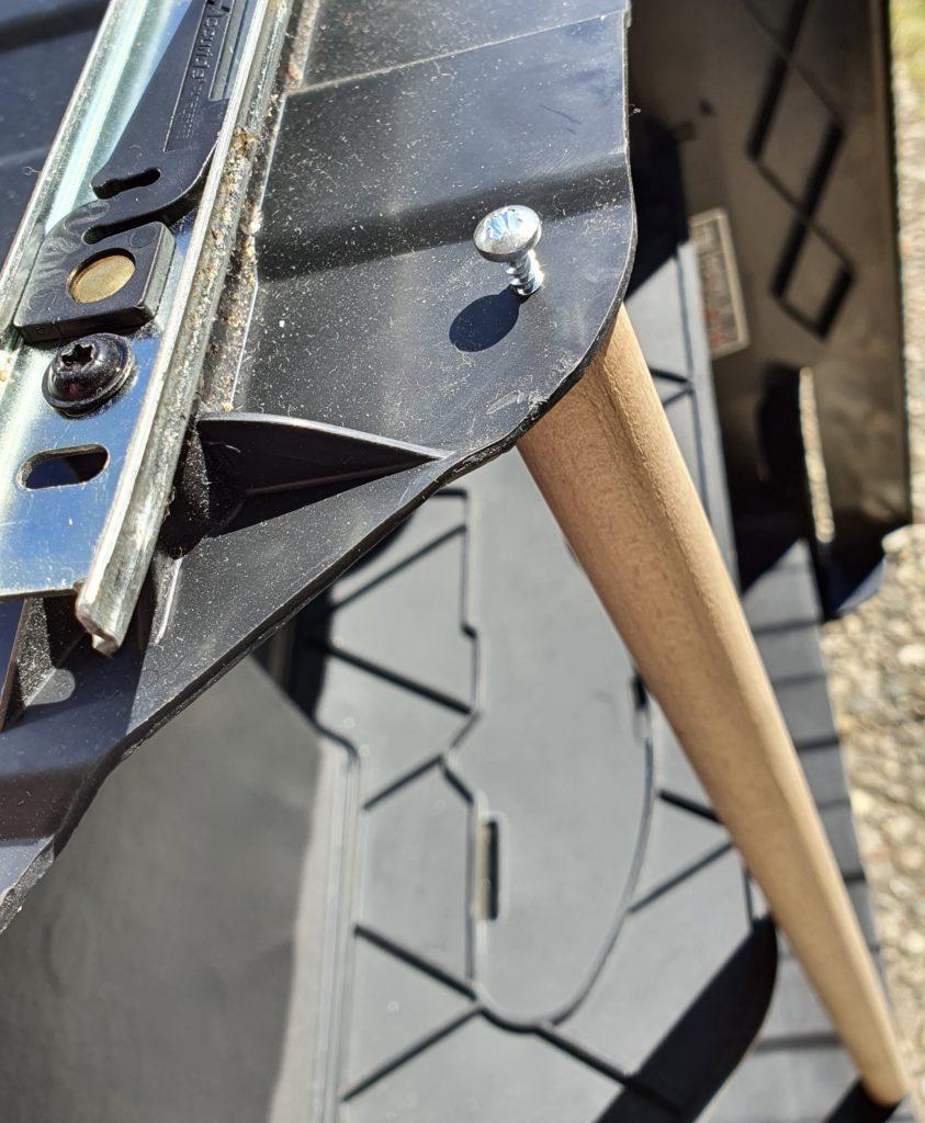 Einbau Druckstab - Insert rod